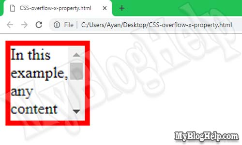 CSS-overflow-x-property-example