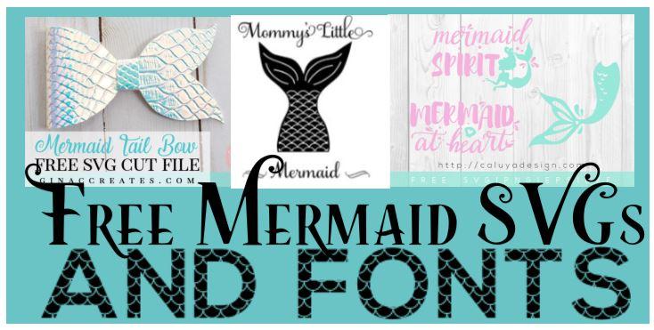 Mermaid Sea Themed Free Svgs
