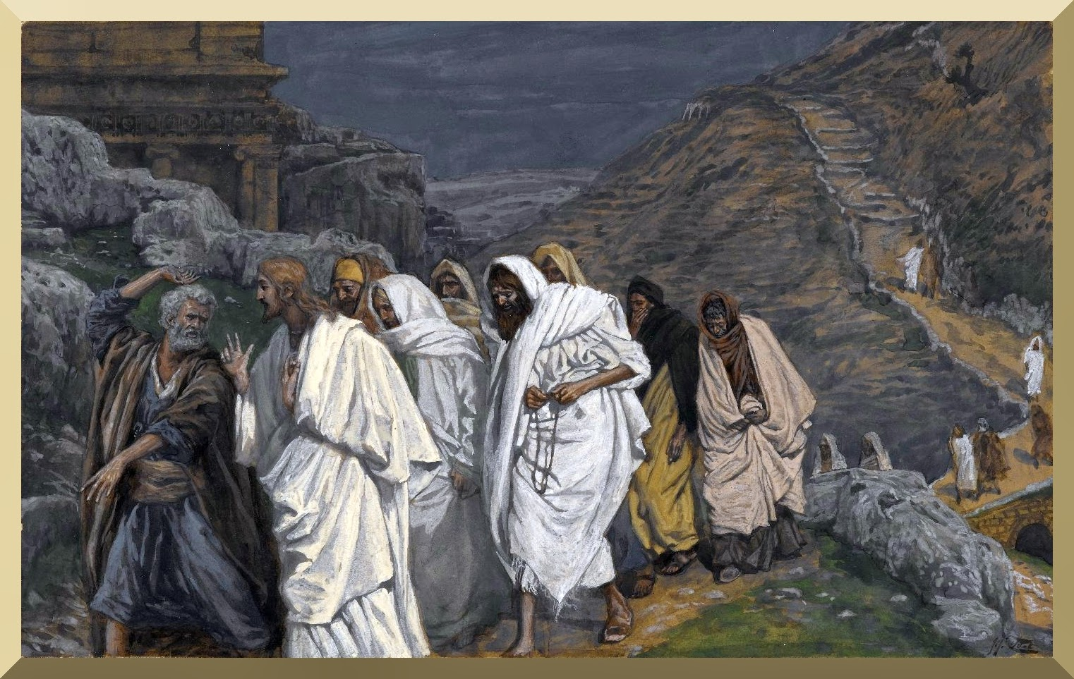 """The Protestations of Saint Peter "" -- by James Tissot"