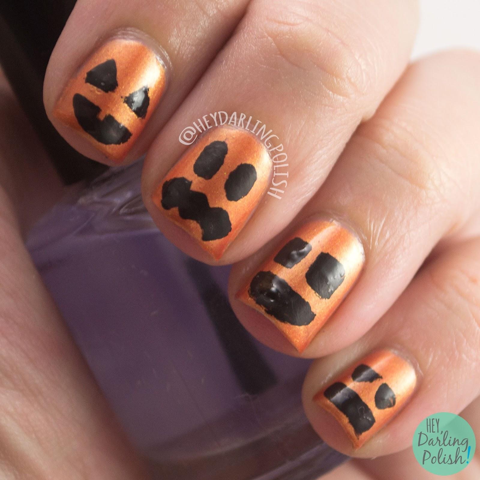 October Nail Art: Hey, Darling Polish!: Liquid Kandi's October Sweet Treat