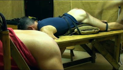 Ben and Harry take a hard spanking in a gay spanking video made by No Way Out Punishment