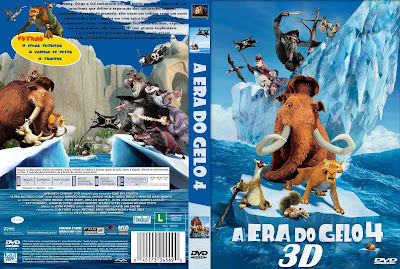 Filme A Era do Gelo 4 3D (Ice Age: Continental Drift 3D) DVD Capa