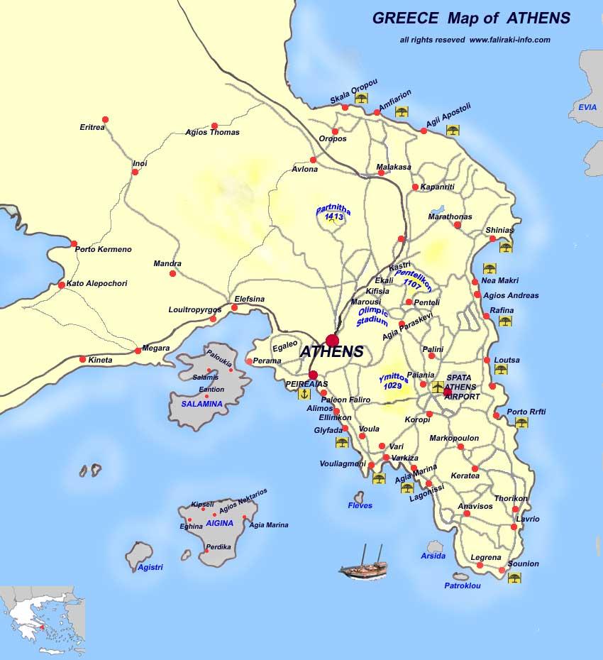 Mapas De Atenas Grecia Mapasblog