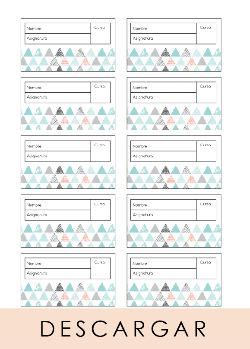 Descargable 60 etiquetas para libros gratis diseño de Habitan2 | Decoración handmade para hogar y eventos