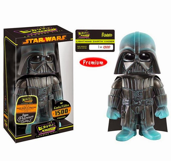 """Lightning"" Darth Vader Star Wars Premium Hikari Sofubi Vinyl Figure by Funko"