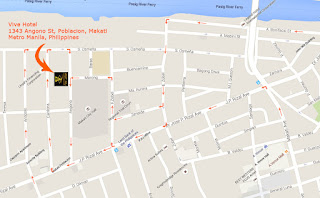 Map direction to Vive Hotel in Makati Philippines