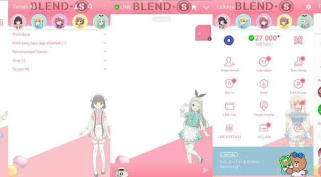Download Tema Line Anime Blend S Gratis (Karakter Lengkap)