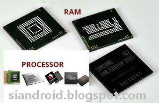 Hubungan Ram dan prosesor di android