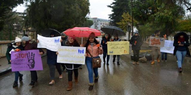 ضمن حملة مناهضة العنف القائم على النوع الاجتماعي,مسير شبابي في السويداء