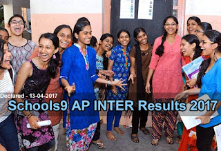 AP Jr Inter Results Schools9, AP 2nd year Results 2017 Schools9, Schools9.com Inter Results 2017