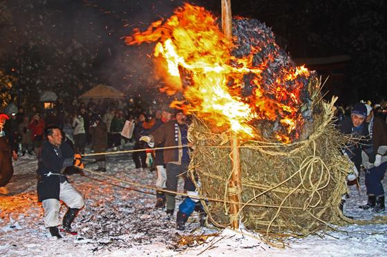 Shoureisai (Fire Festival), at Mt. Haguro, Tsuruoka, Yamagata