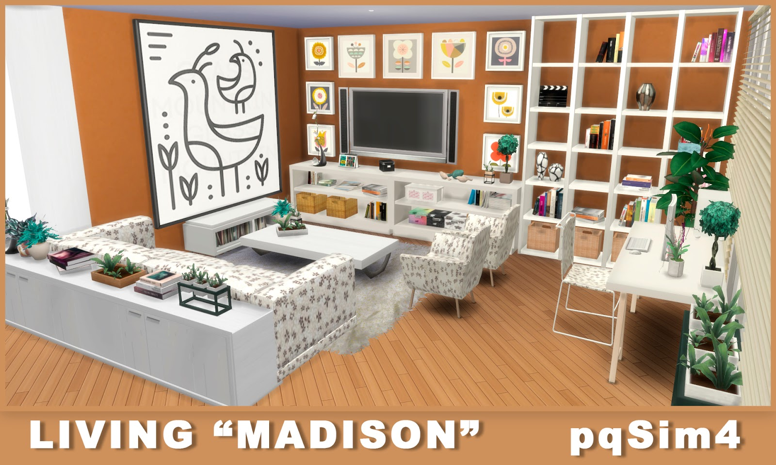 Muebles Sims 4 Living Quotmadison Quot Sims 4 Custom Content