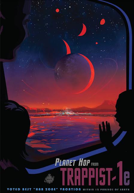 Poster - Viagem ao sistema TRAPPIST-1
