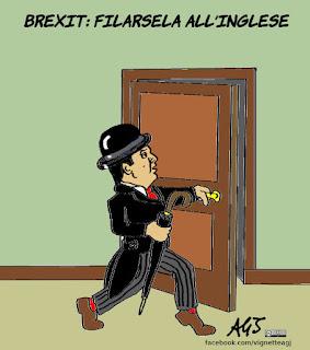 brexit, ballottaggi, PD, Renzi, vignetta, satira