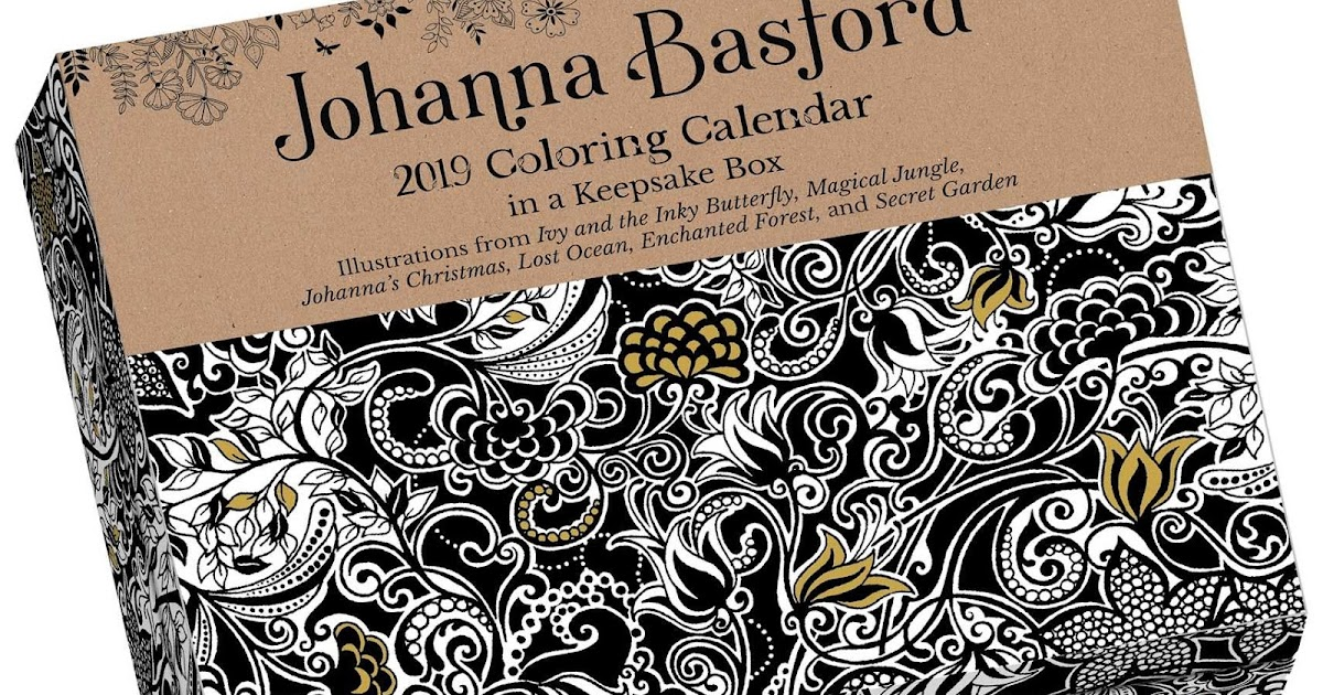 handmade by deb johanna basford 2019 day to day coloring calendar review giveaway