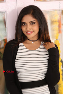 Telugu Actress Karunya Chowdary Stills in Black Dress at Soda Goli Soda Movie Opening  0227.JPG
