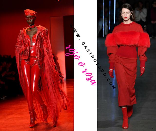 Rojo, brillos, piel.