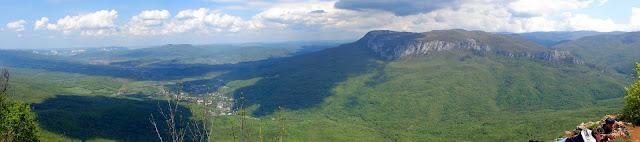 Высокие горы. Седам-Кая. Панорама с Барской поляны