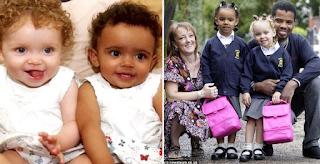 Τα σπάνια δίδυμα κoριτσάκια που γεννήθηκαν με διαφορετικό χρώμα μεγάλωσαν και είναι η πρώτη τους μέρα στο σχολείο