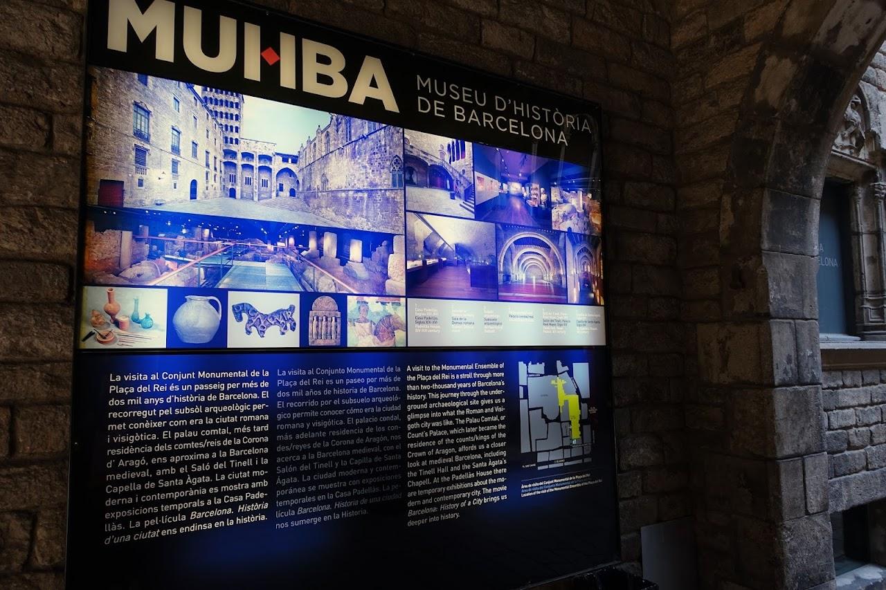 バルセロナ市歴史博物館(Museu d'Història de la Ciutat)入り口