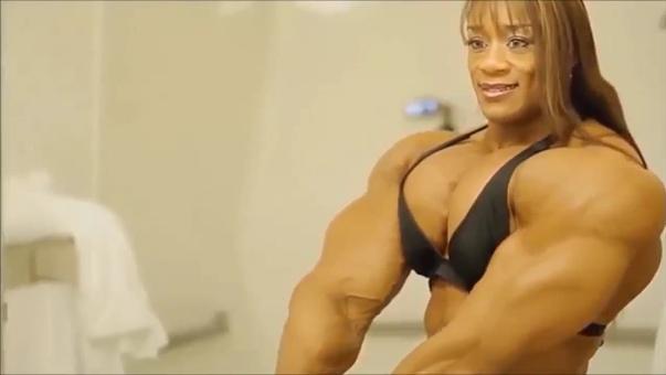 Video huge female bodybuilding muscular female