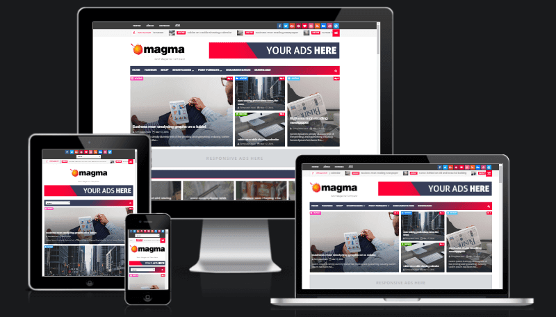 Magma Responsive Magazine Blogger Template | Templatesyard: Free ...