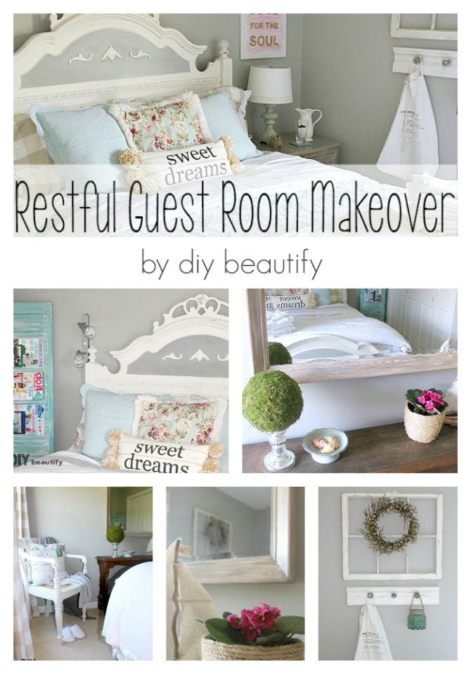 How to turn a junk room into a beautiful and restful guest retreat! All the details are at diy beautify.