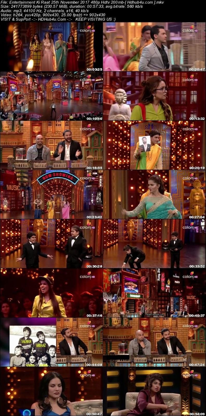 Entertainment Ki Raat 25th November 2017 480p HDTV 200MB Download