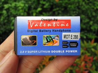 Baterai Hape Jadul Motorola E398 Merk Valentine Langka