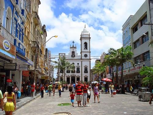 La zona del Viejo Recife en Brasil