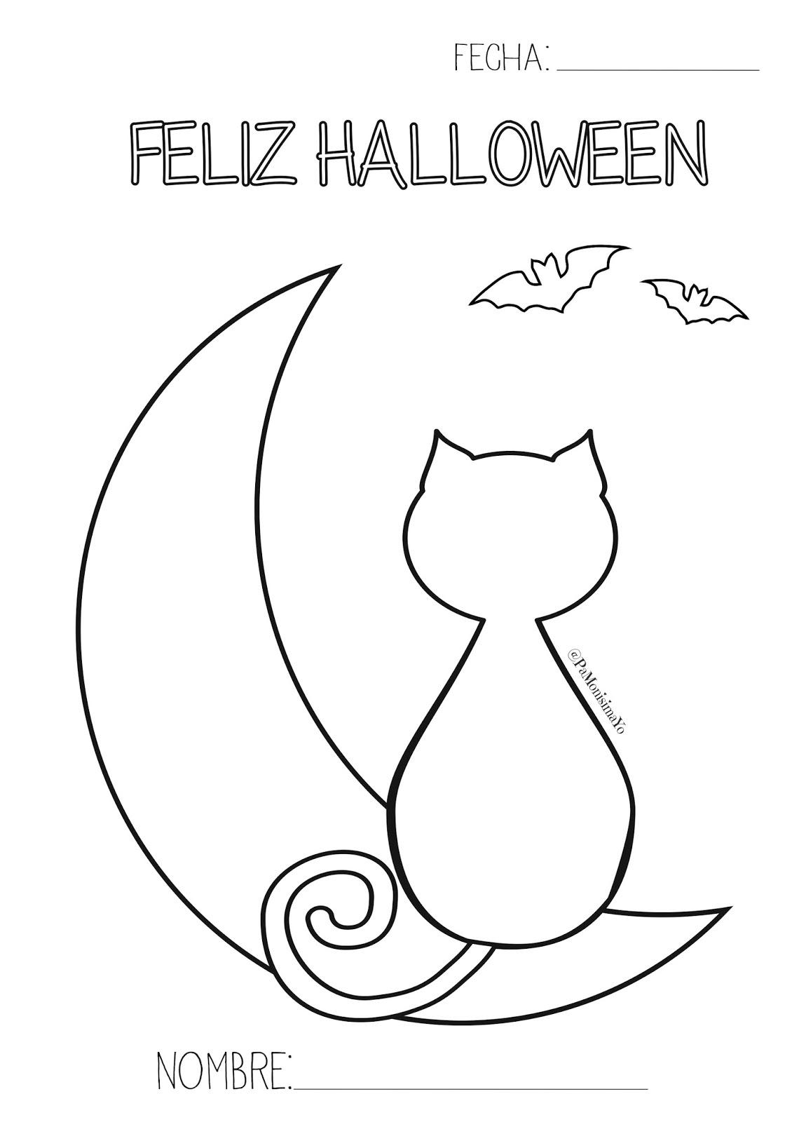 Pa Monísima: Yo: Imprimibles Halloween para Pintar
