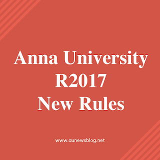 Anna University New Rules for Regulation 2019 (AU accepted Student Request)