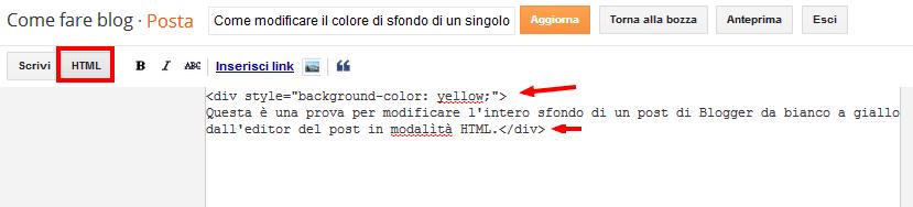 Come Modificare Il Colore Di Sfondo Di Un Singolo Post In