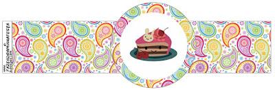 Girls Tea Party Free Printable Napkin Rings.