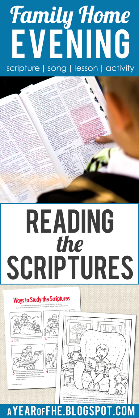a year of fhe family home evening reading the scriptures