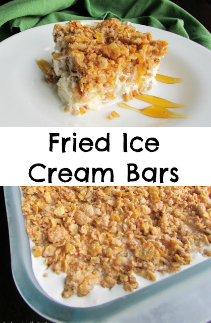 These Fried Ice Cream Bars take that favorite Mexican restaurant dessert and make it so easy to have at home. it is a great make ahead ending to your next fiesta!