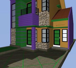 contoh rumah minimalis: rumah type 110 dua lantai dilahan