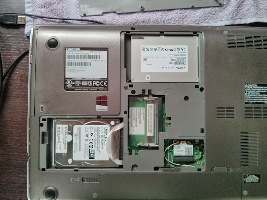 Yes, Toshiba Satellite P875-S7310 Laptop contains two slots for two HDD (hard disk drives)