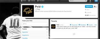 """(Río de Janeiro, 9 abril. Dpa) – El """"rey del fútbol"""" Pelé se rindió finalmente a las redes sociales y este lunes abrió una cuenta en Twitter, que en su primer día suma más de 63 mil seguidores. En el único mensaje divulgado hasta ahora, en inglés, el exfutbolista de 71 años se manifiesta """"entusiasmado"""" por la oportunidad de compartir su vida con """"el mundo"""". """"Hola mundo, gracias por darme la bienvenida en Twitter. Estoy muy entusiasmado por compartir mi vida con ustedes. Con amor, Pelé"""", sostiene el mensaje divulgado por la cuenta @Pelé, que por ahora no sigue a"""