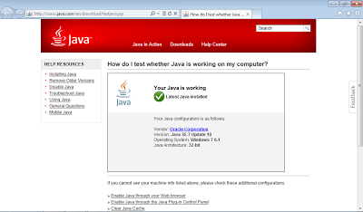 IE with working Java