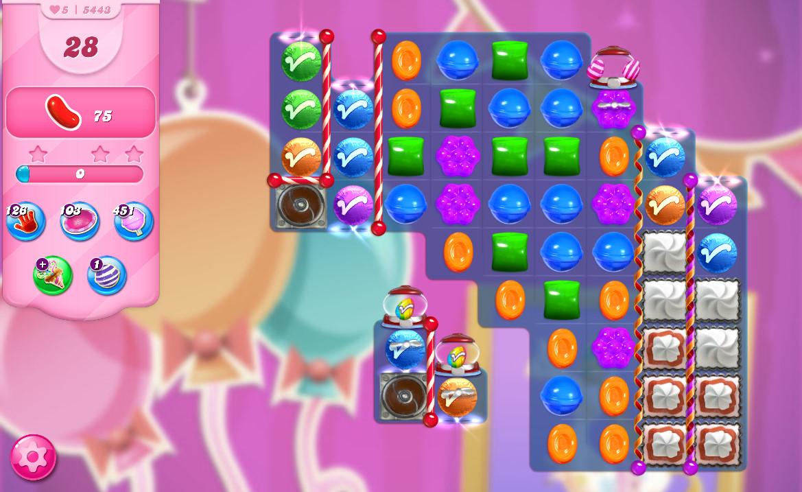 Candy Crush Saga level 5443