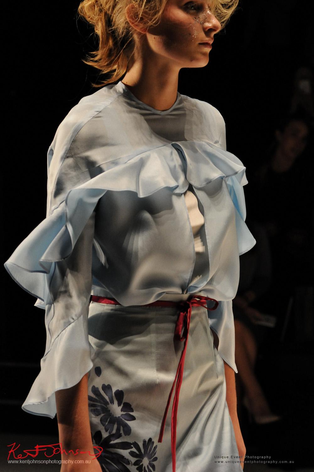 Gemma Saccasan women's wear, Designers from Raffles International Showcase 2016 - MBFWA  Photographed by Kent Johnson.