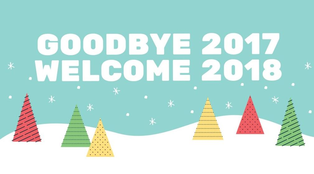 goodbye 2017 welcome 2018 picture image