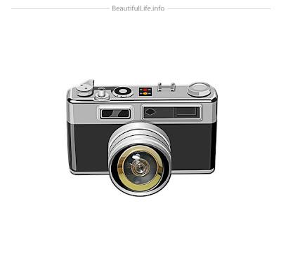 Calcomania o pegatina de cámara fotográfica -vinil para la pared