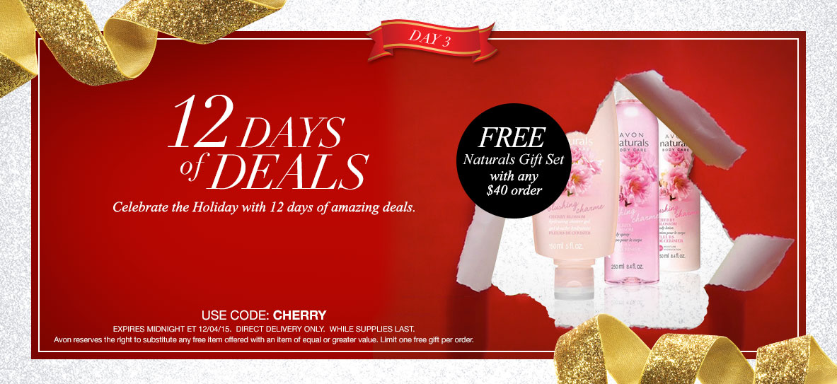 Avon Free Gift With Purchase Day 3 - December 2015