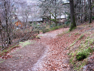 The path around Craigendarroch, Deeside approaches Craigendarroch Walk