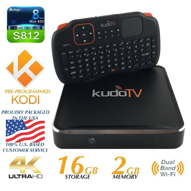 KudoTV KD1 Box TV Android Pro com K1 Wireless Keyboard & Preço