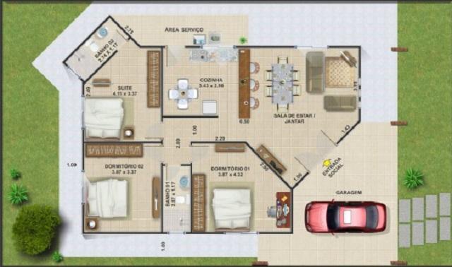 planos de casas 130m2