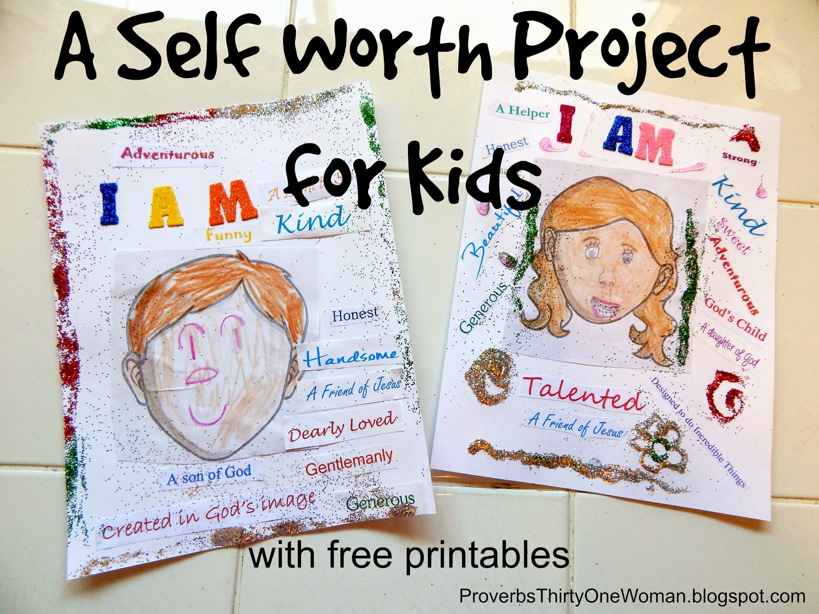A Self Worth Self Esteem Craft for Kids