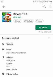 Bloons TD 6 Price